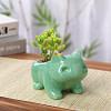 Green-flower pot
